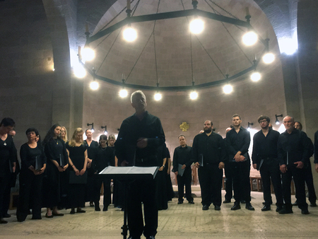 Benefizkonzert des Gary Bertini Israeli Choir in Tabgha.
